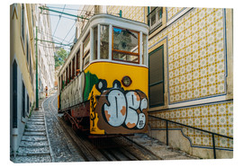 Lienzo  Vintage Tram Ride In Lisbon City - Radu Bercan