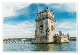 Póster  Belem Tower of Saint Vincent (Torre de Belem) In Lisbon - Radu Bercan