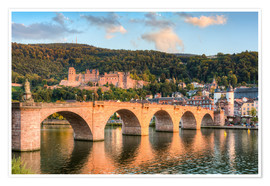 Póster Heidelberg Old Bridge and Castle