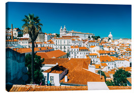 Lienzo  Panoramic View Of Lisbon Skyline - Radu Bercan