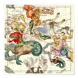 Póster  Atlas celestial - Ignace Gaston Pardies