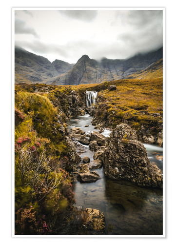 Póster Fairy Pools, isla de Skye
