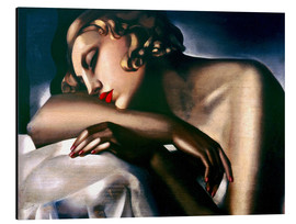 Aluminio-Dibond  The Sleeping Girl - Tamara de Lempicka