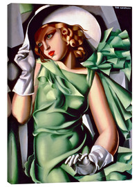 Lienzo  Young lady with gloves - Tamara de Lempicka