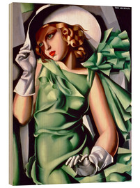 Madera  Young lady with gloves - Tamara de Lempicka