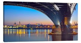 Lienzo  Mainz Germany with rhine bridge - FineArt Panorama